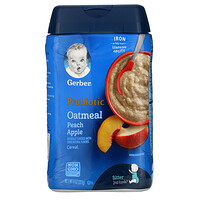 Gerber, Probiotic Oatmeal Cereal, Peach Apple, 8 oz (227 g)