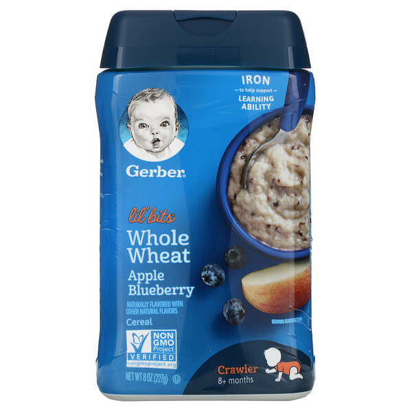 Lil' Bits, Whole Wheat Cereal, 8+ Months, Apple Blueberry, 8 oz (227 g)