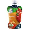 Gerber, Smart Flow, Органическое детское питание, яблоки и летние персики, 99г (3,5унции)