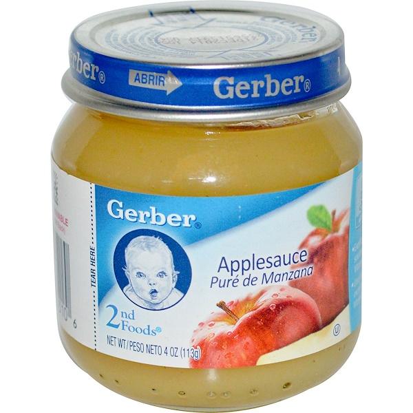 Gerber, 2nd Foods, Applesauce, 4 oz (113 g) (Discontinued Item)