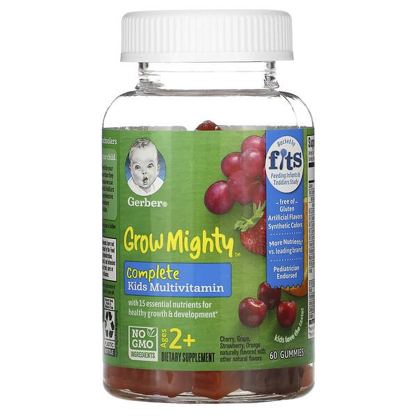 Grow Mighty, мультивитаминный комплекс, для детей от 2лет, 60жевательных мармеладок