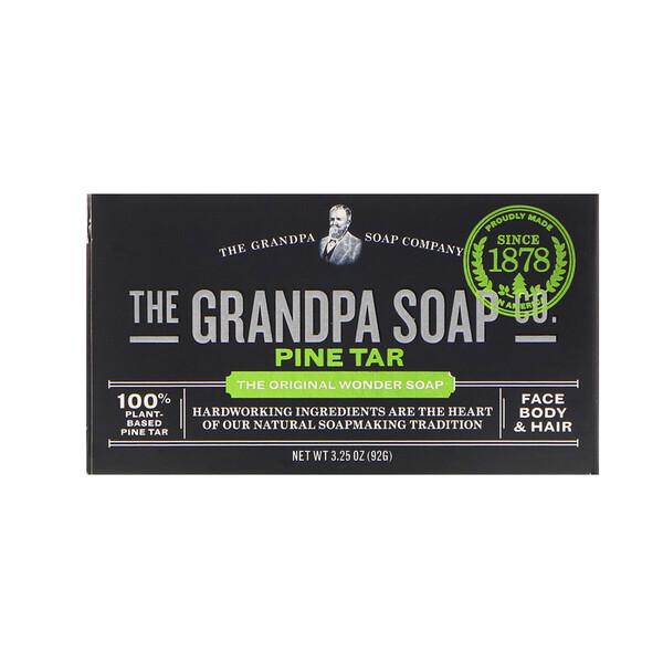 Grandpa's, Мыло для лица, тела и волос, сосновый деготь, 92 г (3,25 унции)