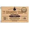 Grandpa's, Кусковое мыло для лица и для тела, успокаивающее, овсяное, 4,25 унции (120 г)
