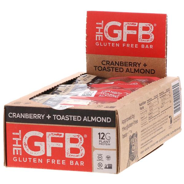 The GFB, Безглютеновый батончик, клюква и обжаренный миндаль, 12батончиков, 58г каждый (Discontinued Item)