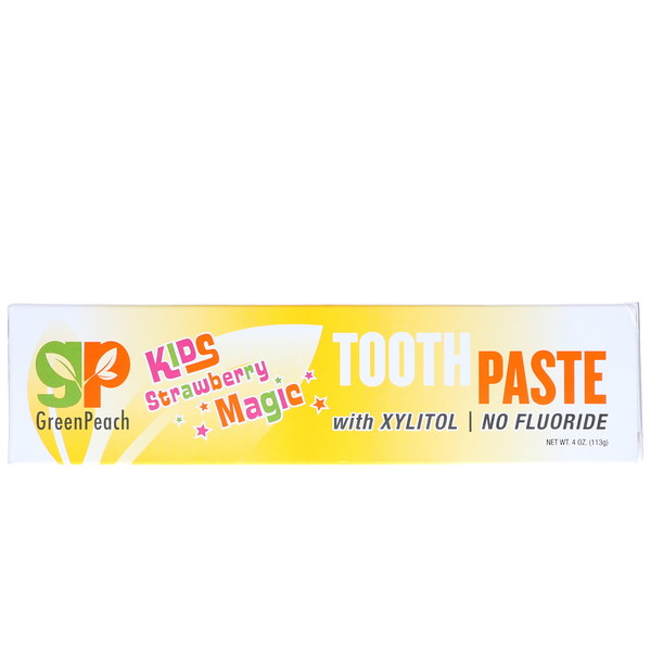 GreenPeach, Kids, Strawberry Magic Toothpaste, 4 oz (113 g)