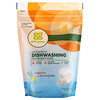 Grab Green, Пакетики с моющим средством для автоматических посудомоечных машин, с запахом мандарина и лимонной травы, на 24 применения, 15.2 унции (432 г)