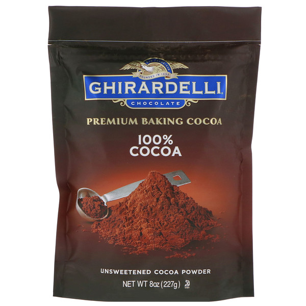 Ghirardelli, Premium Baking Cocoa, Unsweetened Cocoa Powder, 8 oz (227 g) (Discontinued Item)