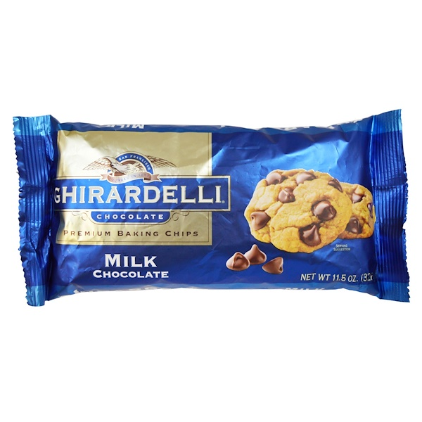 Ghirardelli, Кусочки молочного шоколада для выпечки высшего качества, 326 г (Discontinued Item)