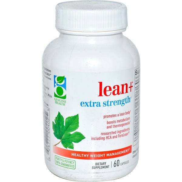 Genuine Health, Lean+ Extra Strength, Healthy Weight Management, 60 Capsules (Discontinued Item)