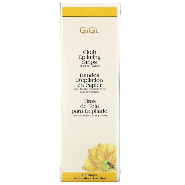 Gigi Spa, Тканевые полоски для депиляции, для мягкого воска, большие, 100шт.