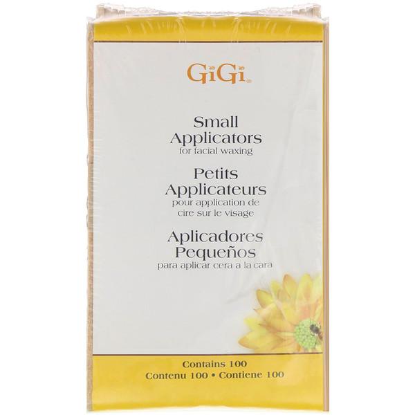 Gigi Spa, Small Applicators for Facial Waxing, 100 Applicators