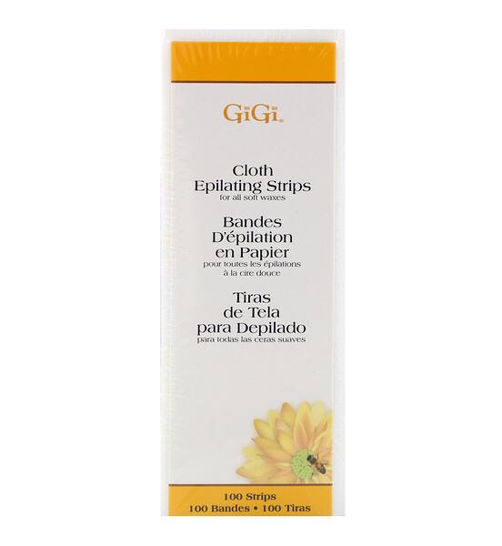 Gigi Spa, Тканевые полоски для депиляции, для мягкого воска, маленькие, 100шт.
