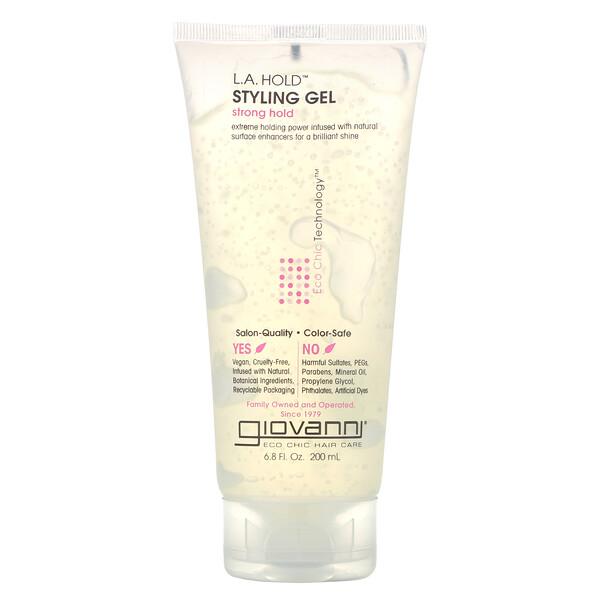 L.A. Natural, гель для укладки волос, сильная фиксация, 200 мл (6,8 жидкой унции)