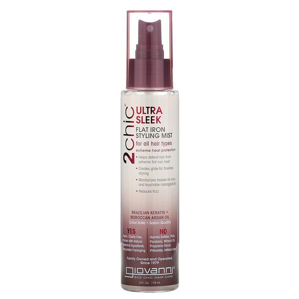2chic, термозащита для волос, бразильский кератин и аргановое масло, 118 мл (4 жидких унции)