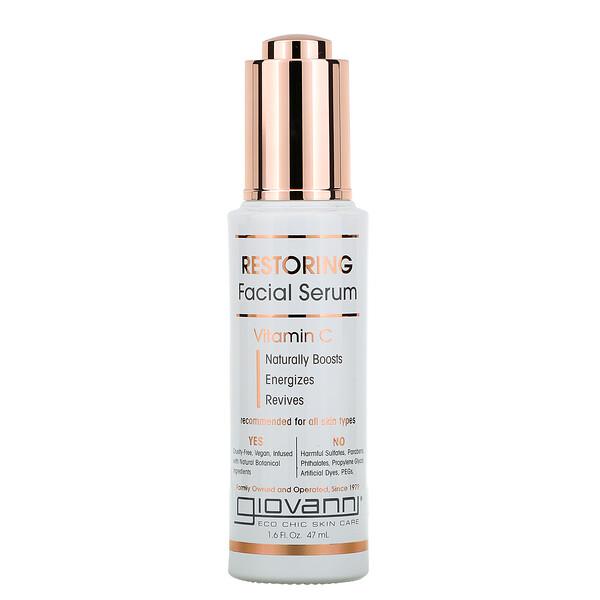 Restoring Facial Serum, Vitamin C, 1.6 fl oz (47 ml)