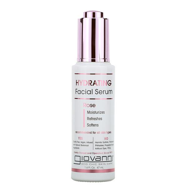 Hydrating Facial Serum, Rose, 1.6 fl oz (47 ml)