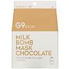 G9skin, Milk Bomb Mask, Chocolate, 5 Sheets, 25 ml Each