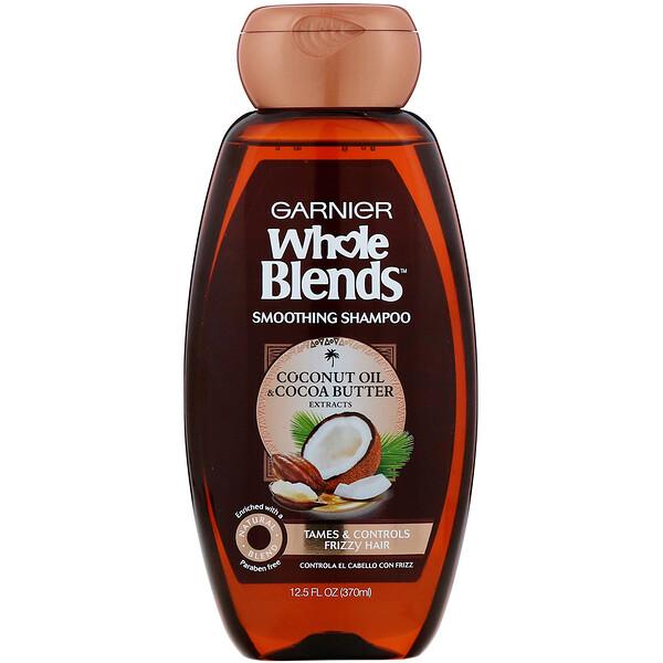 Разглаживающий шампунь Whole Blends, «Масла кокоса и какао», 370мл