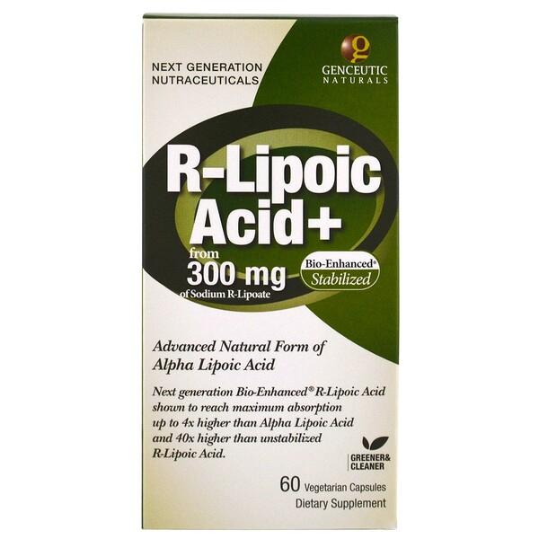 R-липоевая кислота+, 300 мг, 60 вегетарианских капсул