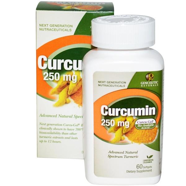 Куркумин, 250 мг, 60 гелевых капсул