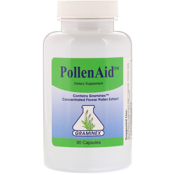 Graminex, PollenAid, 90 капсул (Discontinued Item)