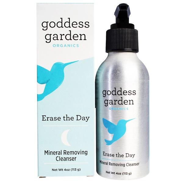 Goddess Garden, Organics, Сотрите день, Минеральное удаляющее чистящее средство, 4 унции (113 г) (Discontinued Item)