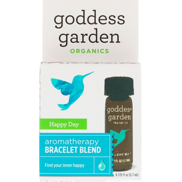 Goddess Garden, Органический продукт, Счастливый день, Купаж для ароматерапевтического браслета, 0,125 ж. унц.(3,7 мл) (Discontinued Item)