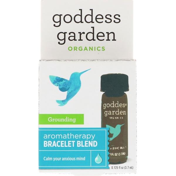 Goddess Garden, Органический продукт, Заземление, Купаж для ароматерапевтического браслета, 0,125 ж. унц.(3,7 мл) (Discontinued Item)
