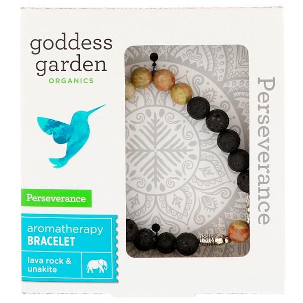 Goddess Garden, Органический продукт, Настойчивость, Браслет для ароматерапии, 1 браслет (Discontinued Item)