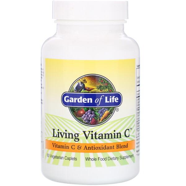 Living Vitamin C, 60 растительных капсуловидных таблеток