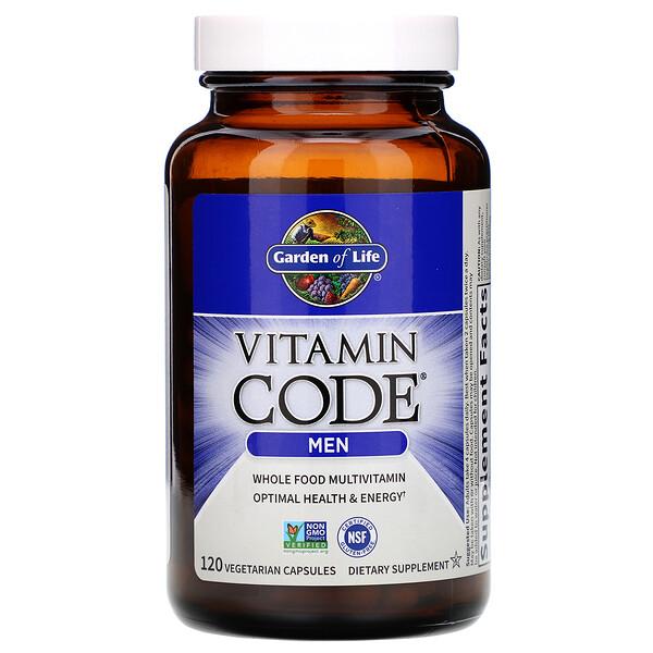 Garden of Life, Vitamin Code, для мужчин, 120вегетарианских капсул