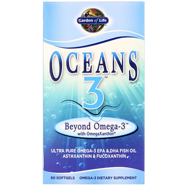 Oceans 3, Beyond Omega-3 с омега-ксантином, 60 желатиновых капсул