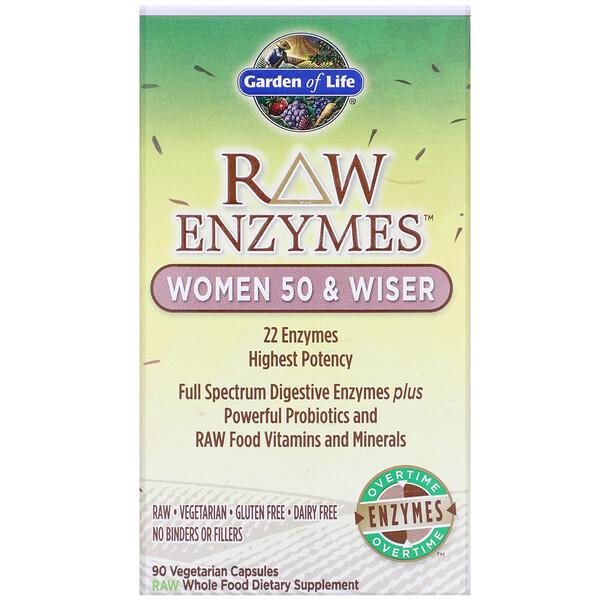 Ферменты RAW, для женщин старше 50 лет, 90 растительных капсул