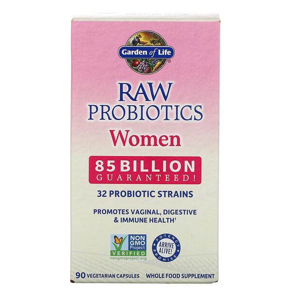 RAW Probiotics, Women, 85 Billion, 90 Vegetarian Capsules