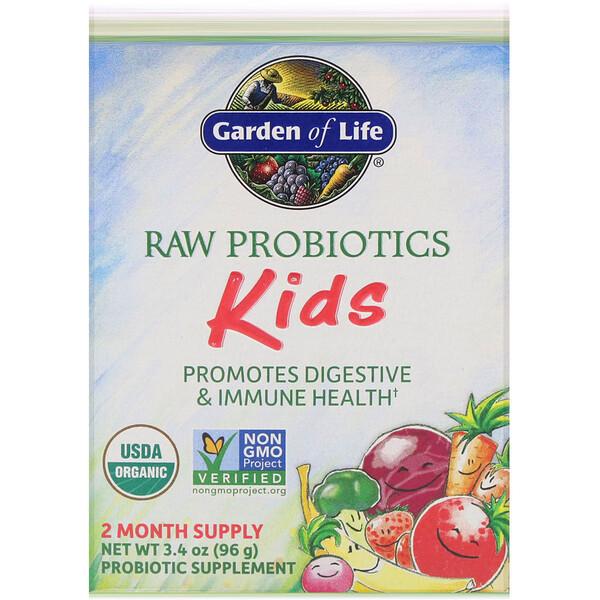 Сырые пробиотики, для детей, 3,4 унции (96 г)