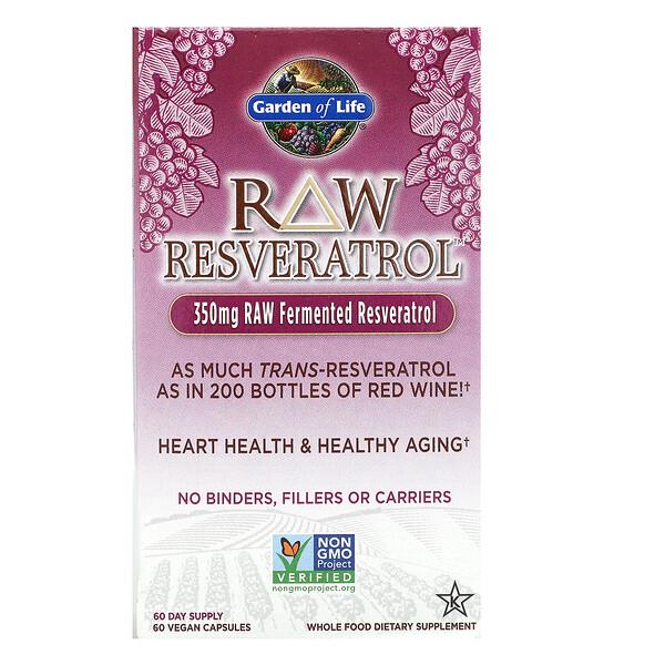 RAW Resveratrol, 350мг, 60веганских капсул