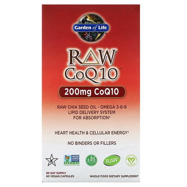 RAW CoQ10, 200мг, 60веганских капсул