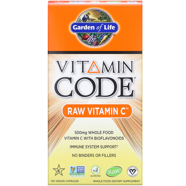 Vitamin Code, витамин C RAW, 500 мг, 120 веганских капсул