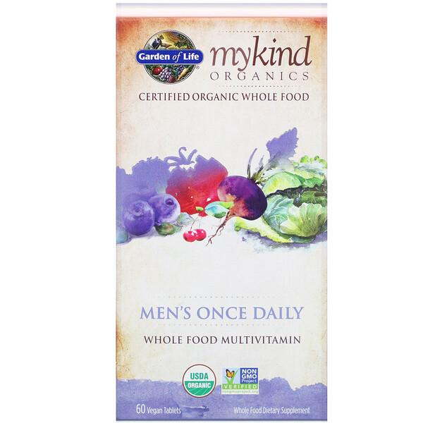 MyKind Organics, комплекс для мужчин, для ежедневного приема, 60 веганских таблеток