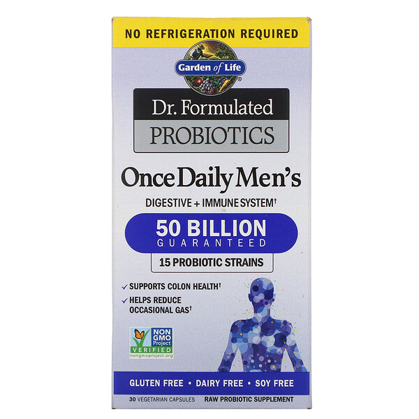Dr. Formulated Probiotics, Once Daily Men's, 50 Billion, 30 Vegetarian Capsules