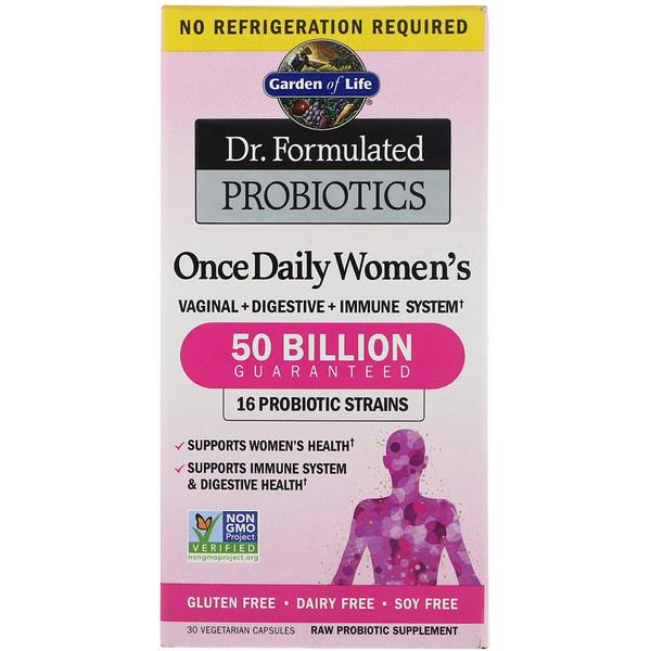 Разработанные доктором пробиотики, витаминный комплекс Once Daily Women's, 30 вегетарианский капсул