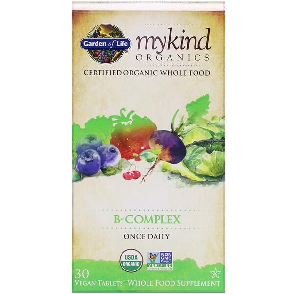 MyKind Organics, комплекс витаминов группыB, 30таблеток растительного происхождения