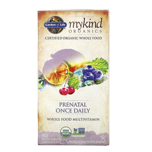 MyKind Organics, пренатальные мультивитамины, одна таблетка в день, 90 веганских таблеток