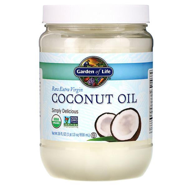 Неочищенное кокосовое масло холодного отжима, 858 мл (29 жидких унций)