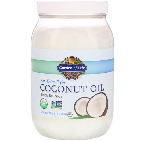Необработанное кокосовое масло холодного отжима, 1,6л (56жидких унций)