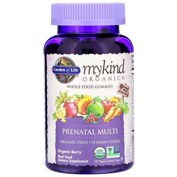 MyKind Organics, пренатальные мультивитамины, со вкусом ягод, 120 веганских жевательных таблеток