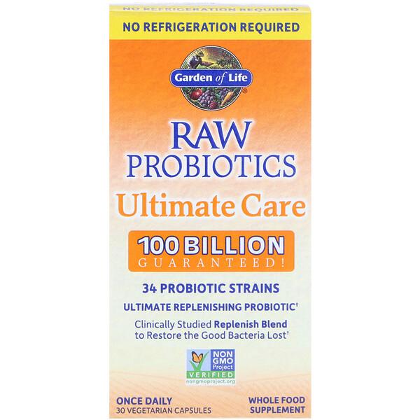 RAW Probiotics Ultimate Care, 30 Vegetarian Capsules