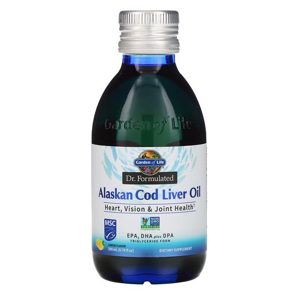 Dr. Formulated, Alaskan Cod Liver Oil, Lemon, 6.76 fl oz (200 ml)