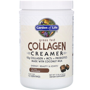 Garden of Life, Экологически чистый коллагеновые сливки, со вкусом шоколада, 342г (12,06унции)