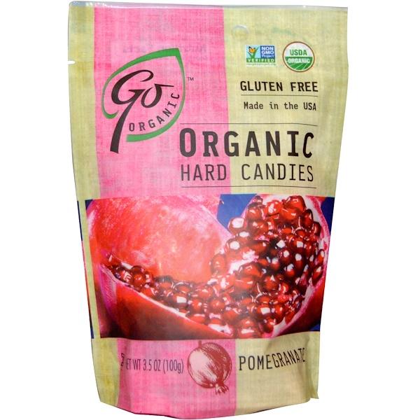 GoOrganic, Органические леденцы со вкусом граната, 3,5 унции (100 г) (Discontinued Item)